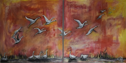 Fall Migration - Multimedia on Canvas