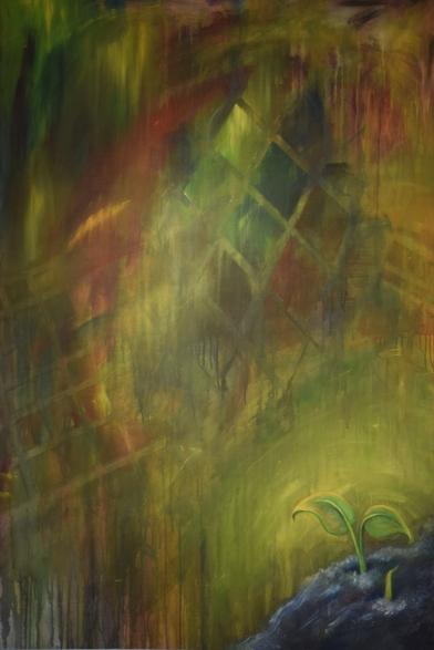 Magic Beans - Acrylic on 3' x 5' Canvas
