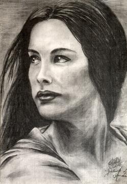 Portrait of Arwen - Graphite Pencil on Paper (Reproduction) Original Sold