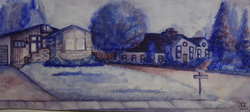 Drumheller - Watercolour Sketch